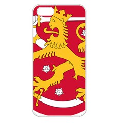 Coat of Arms of Finland Apple iPhone 5 Seamless Case (White)