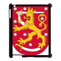 Coat of Arms of Finland Apple iPad 3/4 Case (Black)
