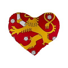 Coat of Arms of Finland Standard 16  Premium Heart Shape Cushions