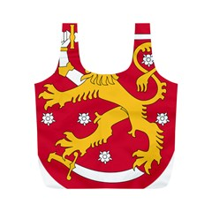 Coat of Arms of Finland Full Print Recycle Bags (M)