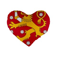 Coat of Arms of Finland Standard 16  Premium Flano Heart Shape Cushions