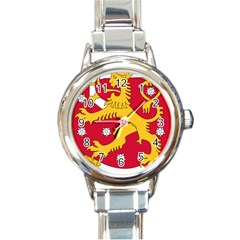 Coat of Arms of Finland Round Italian Charm Watch