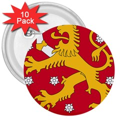 Coat of Arms of Finland 3  Buttons (10 pack)