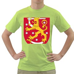 Coat of Arms of Finland Green T-Shirt