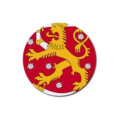 Coat of Arms of Finland Rubber Round Coaster (4 pack)