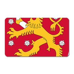 Coat of Arms of Finland Magnet (Rectangular)