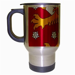 Coat of Arms of Finland Travel Mug (Silver Gray)