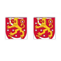 Coat of Arms of Finland Cufflinks (Square)