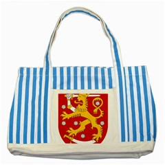 Coat of Arms of Finland Striped Blue Tote Bag