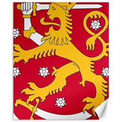 Coat of Arms of Finland Canvas 11  x 14