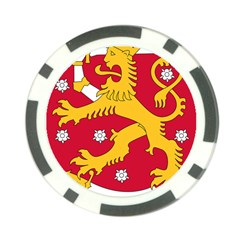 Coat of Arms of Finland Poker Chip Card Guard (10 pack)