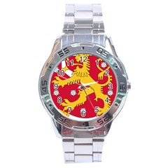 Coat of Arms of Finland Stainless Steel Analogue Watch