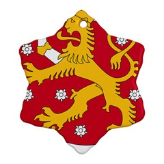 Coat of Arms of Finland Ornament (Snowflake)