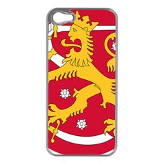 Coat of Arms of Finland Apple iPhone 5 Case (Silver)