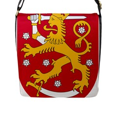 Coat of Arms of Finland Flap Messenger Bag (L)