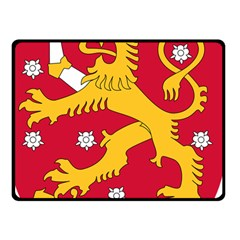 Coat of Arms of Finland Double Sided Fleece Blanket (Small)