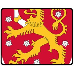 Coat of Arms of Finland Double Sided Fleece Blanket (Medium)