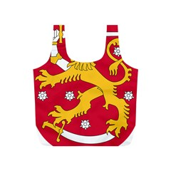 Coat of Arms of Finland Full Print Recycle Bags (S)