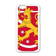 Coat of Arms of Finland Apple iPhone 6/6S White Enamel Case
