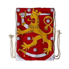 Coat of Arms of Finland Drawstring Bag (Small)