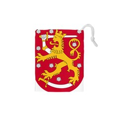 Coat of Arms of Finland Drawstring Pouches (XS)