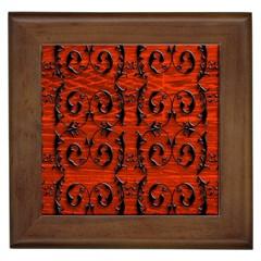 3d Metal Pattern On Wood Framed Tiles