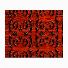 3d Metal Pattern On Wood Small Glasses Cloth