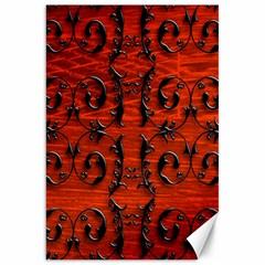 3d Metal Pattern On Wood Canvas 20  X 30