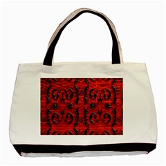 3d Metal Pattern On Wood Basic Tote Bag (Two Sides)