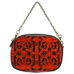 3d Metal Pattern On Wood Chain Purses (one Side)