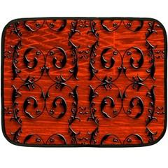 3d Metal Pattern On Wood Fleece Blanket (Mini)