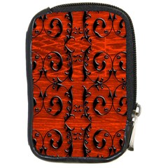 3d Metal Pattern On Wood Compact Camera Cases