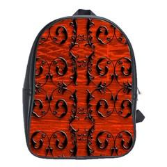 3d Metal Pattern On Wood School Bags(large)