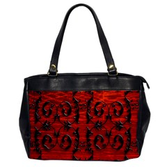 3d Metal Pattern On Wood Office Handbags