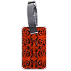 3d Metal Pattern On Wood Luggage Tags (one Side)