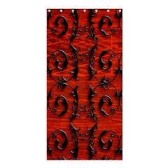 3d Metal Pattern On Wood Shower Curtain 36  X 72  (stall)