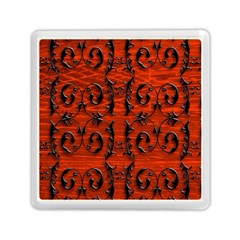 3d Metal Pattern On Wood Memory Card Reader (square)
