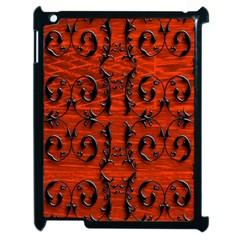 3d Metal Pattern On Wood Apple Ipad 2 Case (black)