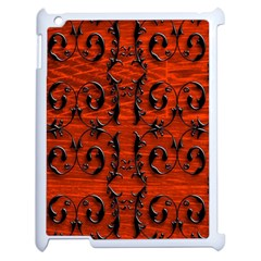 3d Metal Pattern On Wood Apple iPad 2 Case (White)