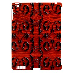 3d Metal Pattern On Wood Apple Ipad 3/4 Hardshell Case (compatible With Smart Cover)