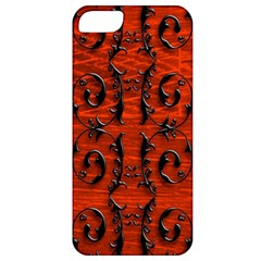 3d Metal Pattern On Wood Apple iPhone 5 Classic Hardshell Case