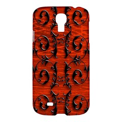 3d Metal Pattern On Wood Samsung Galaxy S4 I9500/I9505 Hardshell Case