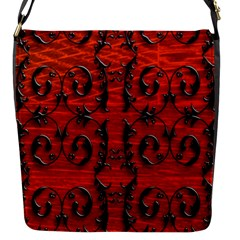 3d Metal Pattern On Wood Flap Messenger Bag (s)