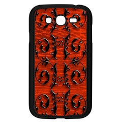 3d Metal Pattern On Wood Samsung Galaxy Grand Duos I9082 Case (black)