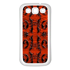 3d Metal Pattern On Wood Samsung Galaxy S3 Back Case (white)