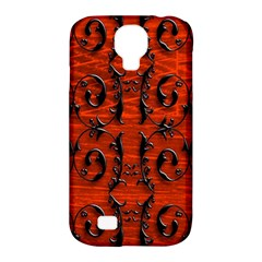 3d Metal Pattern On Wood Samsung Galaxy S4 Classic Hardshell Case (pc+silicone)