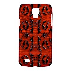 3d Metal Pattern On Wood Galaxy S4 Active