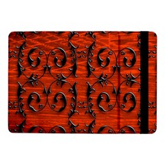 3d Metal Pattern On Wood Samsung Galaxy Tab Pro 10.1  Flip Case