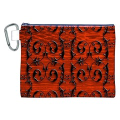 3d Metal Pattern On Wood Canvas Cosmetic Bag (xxl)