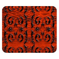 3d Metal Pattern On Wood Double Sided Flano Blanket (small)